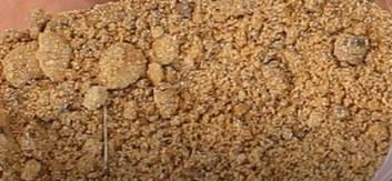Arena de grano fino sin tamizar